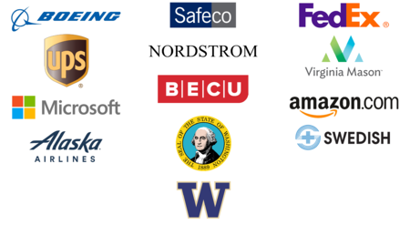 A few of the employers of The Clearing graduates:: Boeing, Safeco, Fedex, UPS, Nordstroms, Virgina Mason, Microsoft, BECU, Amazon, Alaska Airlines, Swedish, and the University of Washington