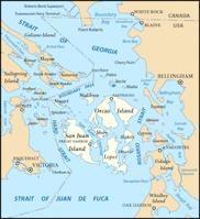 Map of San Juan Island