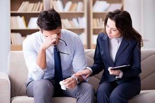 Woman Therapist Leading Man Through Behavioral Therapy