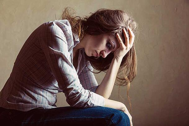 Woman Suffering from Depression Symptoms