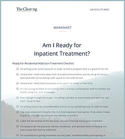 Worksheet: Are You Ready for Inpatient Treatment?