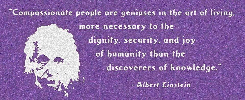 Einstein quote on compassion
