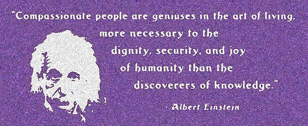 Einstein quote on compassion
